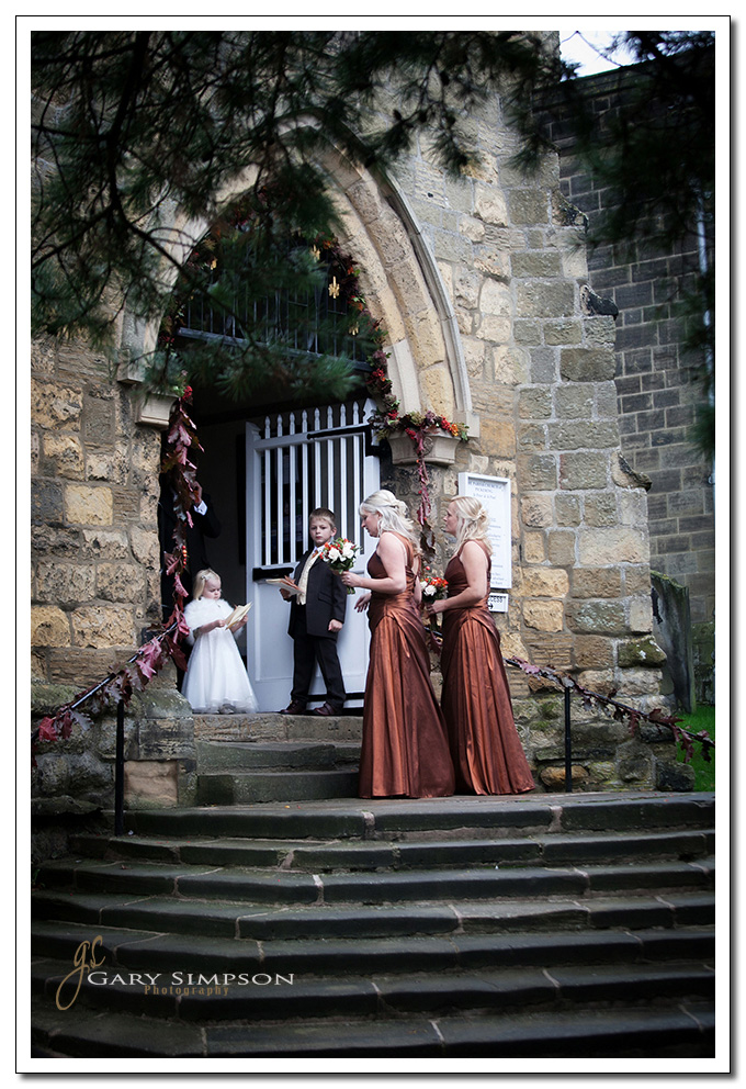 wedding at St peters Church, Pickering, North Yorkshire