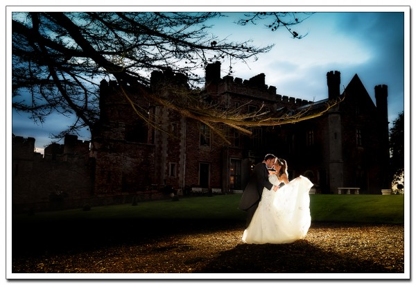 bride and groom portrait at rowton hall