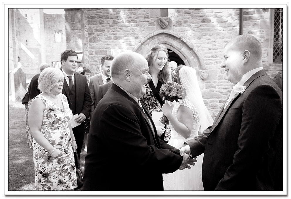 wedding photography at Easby Abbey