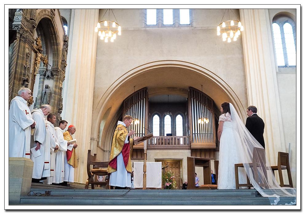 wedding at ampleforth abbey, helmsley