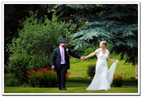 bride and groom, wedding at hackness grange