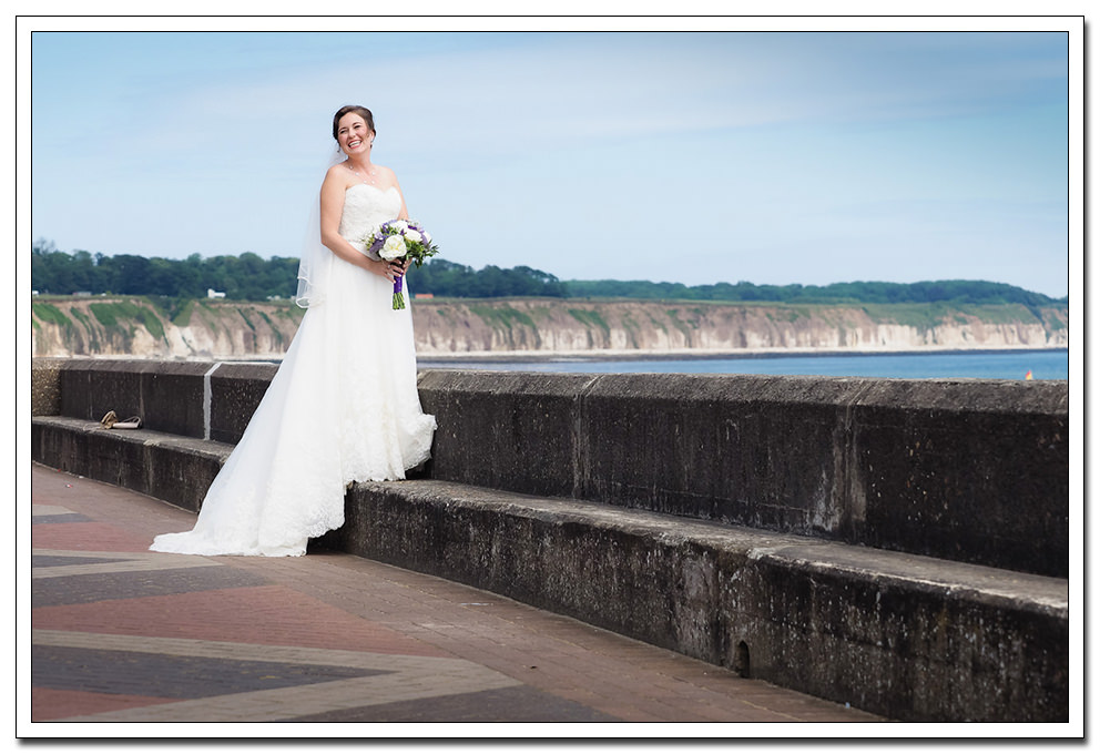 bride at the expanse hotel, bridlington