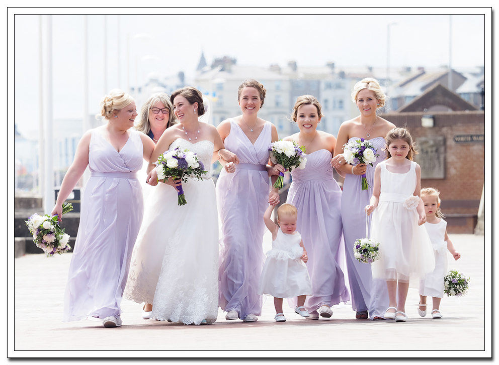 bridal party at the expanse hotel wedding