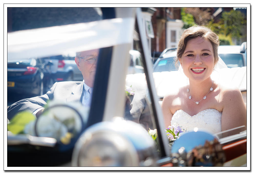 bride arrivil at the church - bridlington