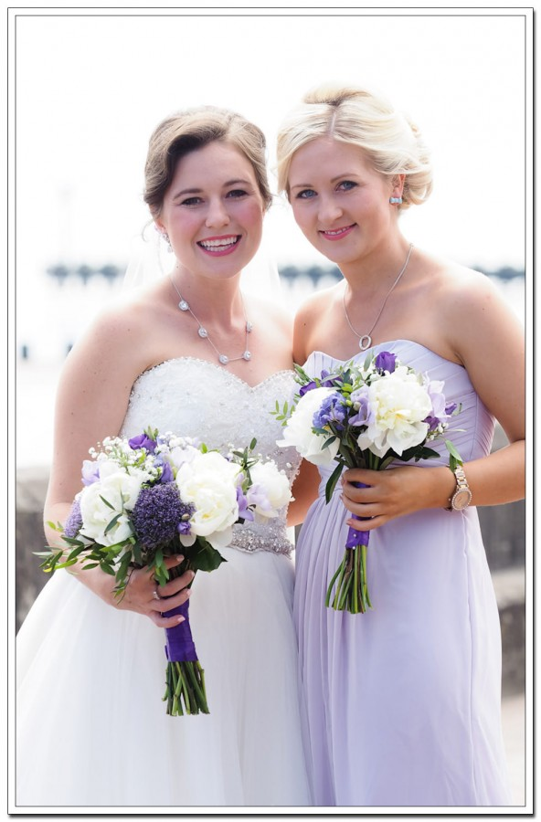 bride and bridesmaid - expanse hotel wedding