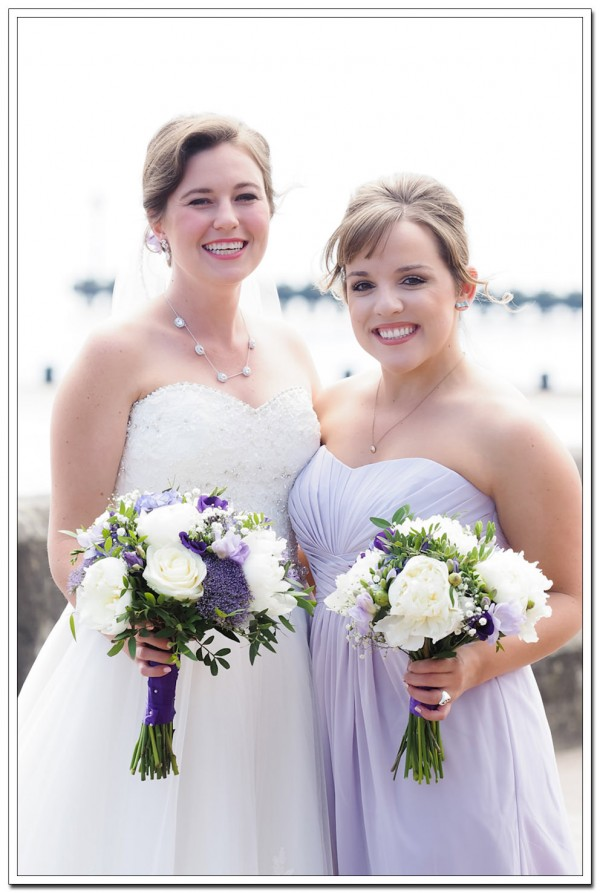 bride and bridesmaid wedding