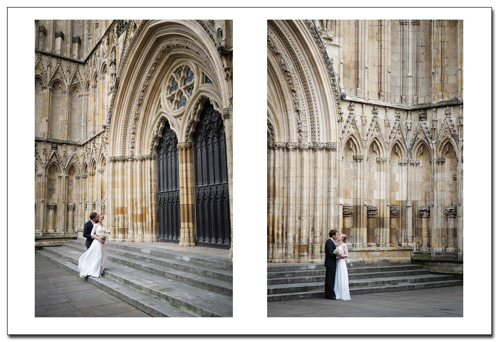 york minster - wedding couple