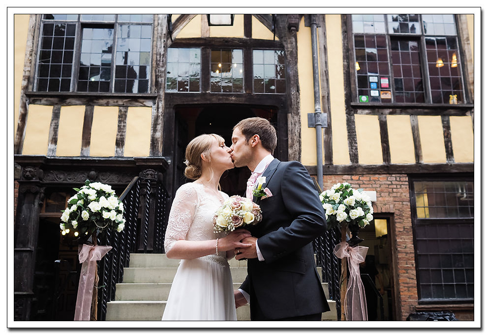 bride and groom - merchants hall wedding