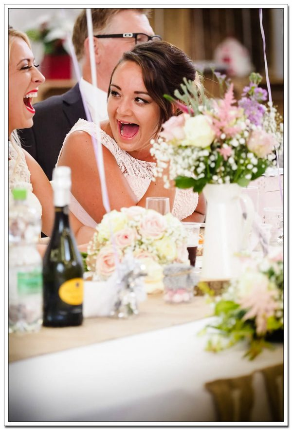 guests during the grooms speech
