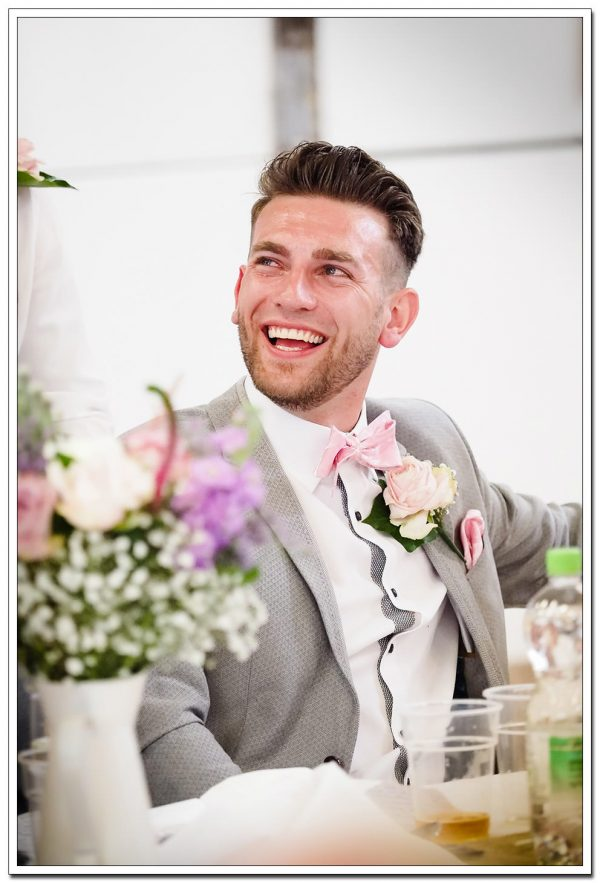 groom shot during the best mans speech