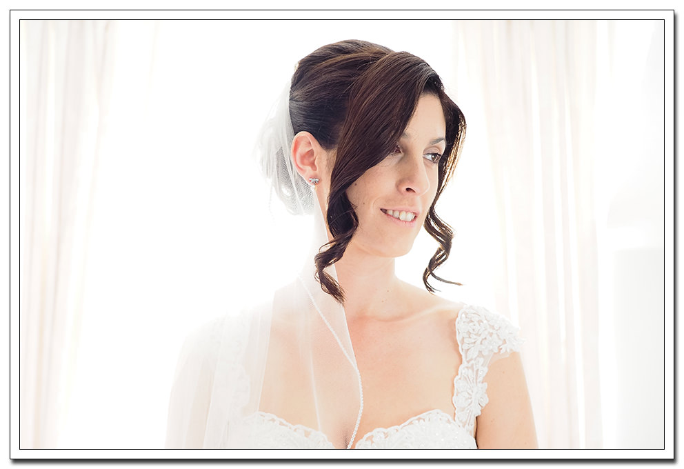 bridal portrait at the ellerby