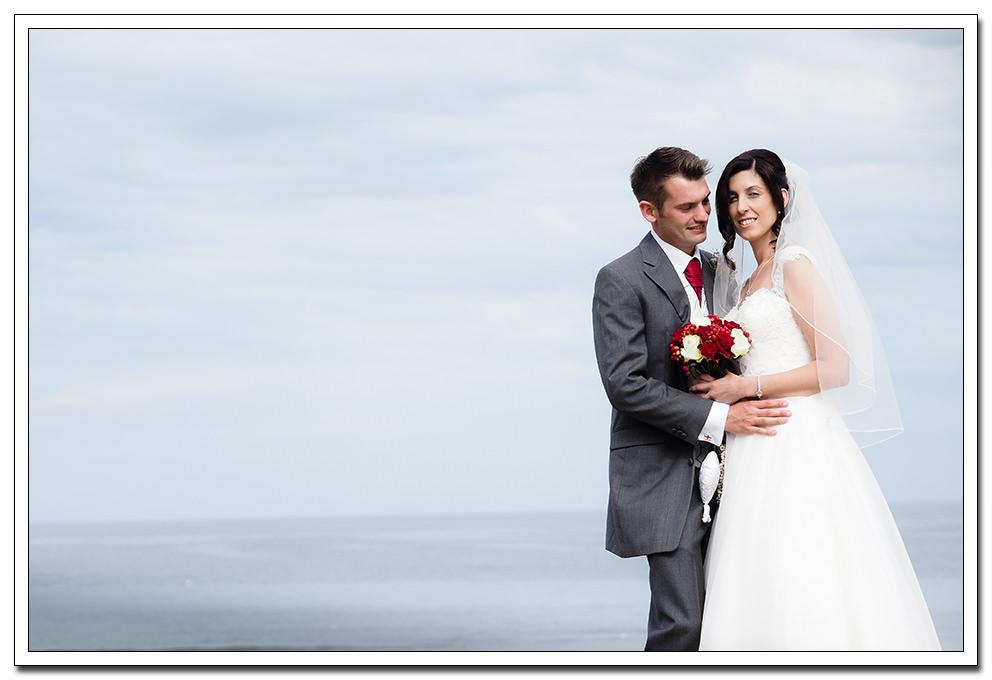 sandsend bride and groom