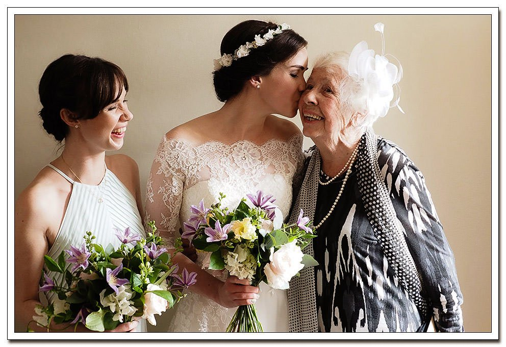 bride and grandmother during the bridal preparation