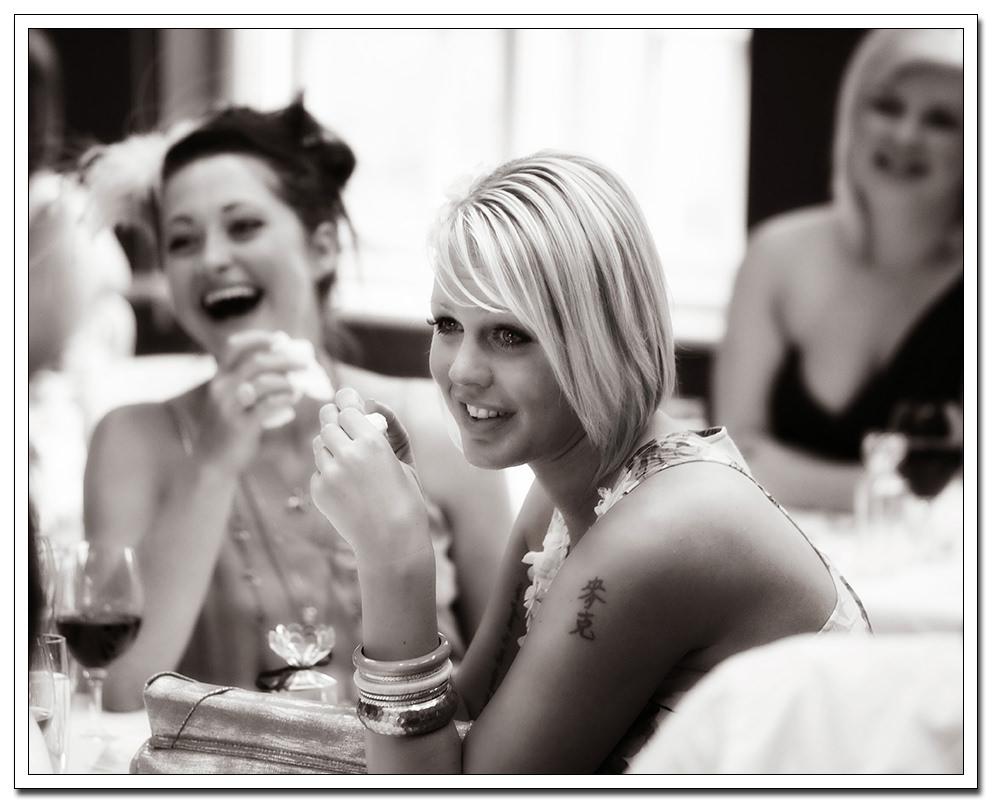 an emotional bridesmaid