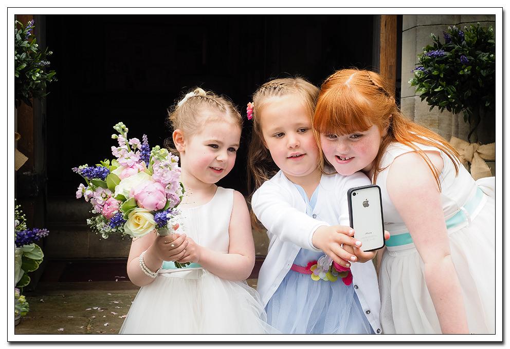 flower girls and a selfie