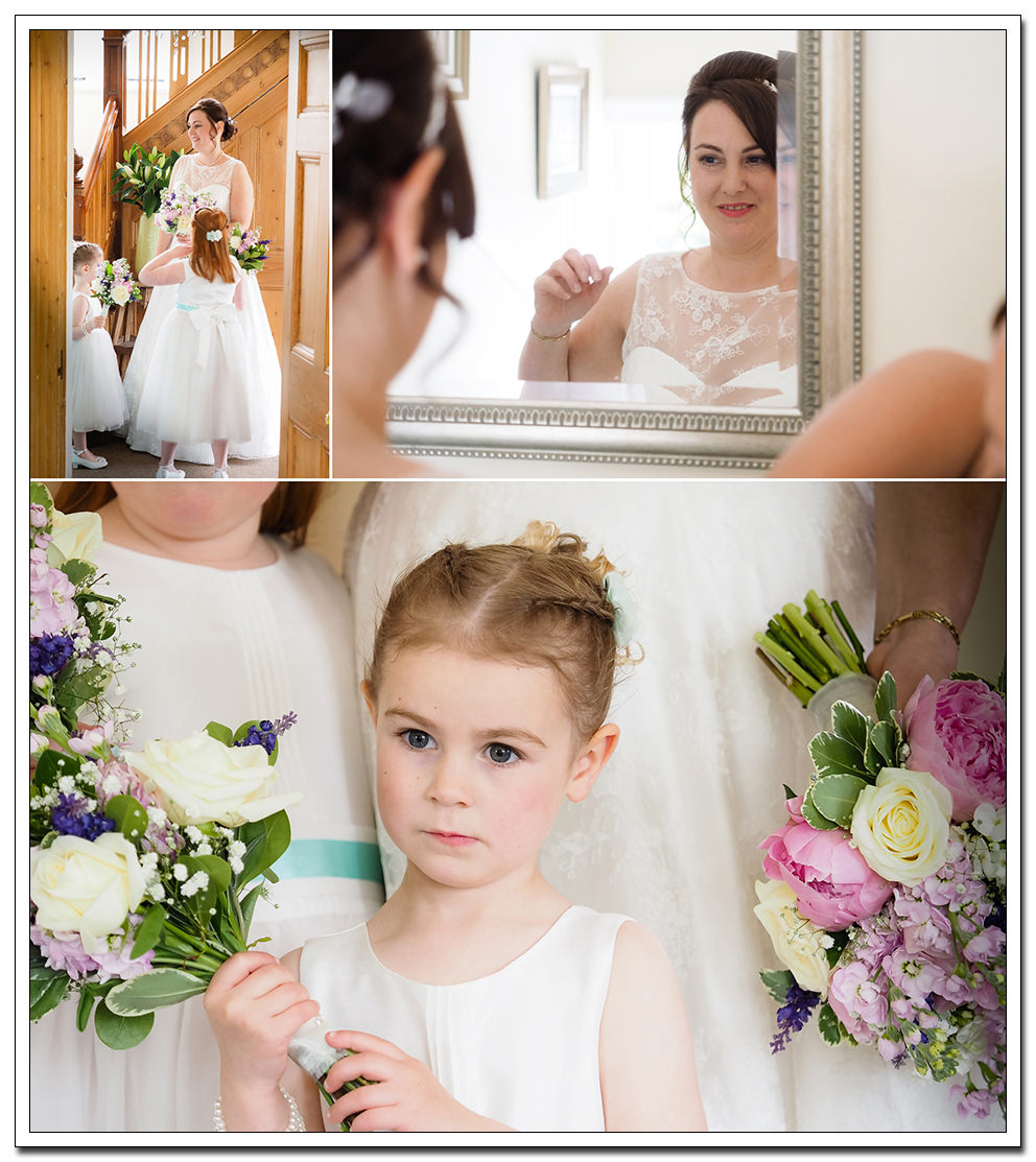 bride & bridesmaids during the bridal preparation
