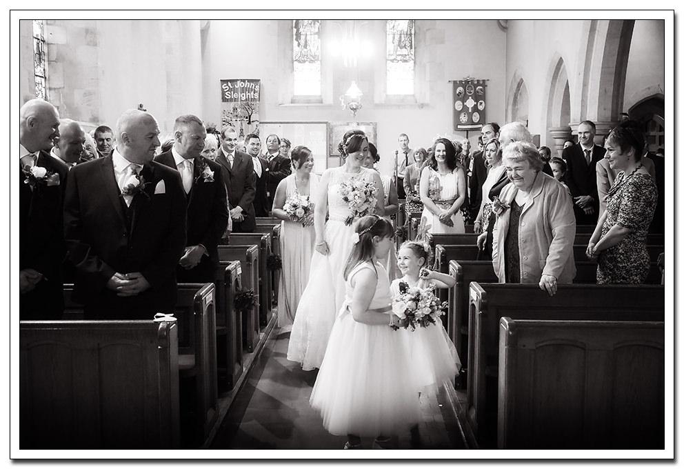 bridal party at the church