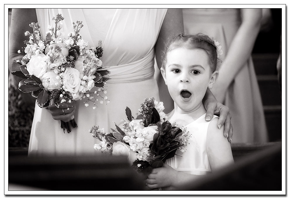 flower girl during the ceremony