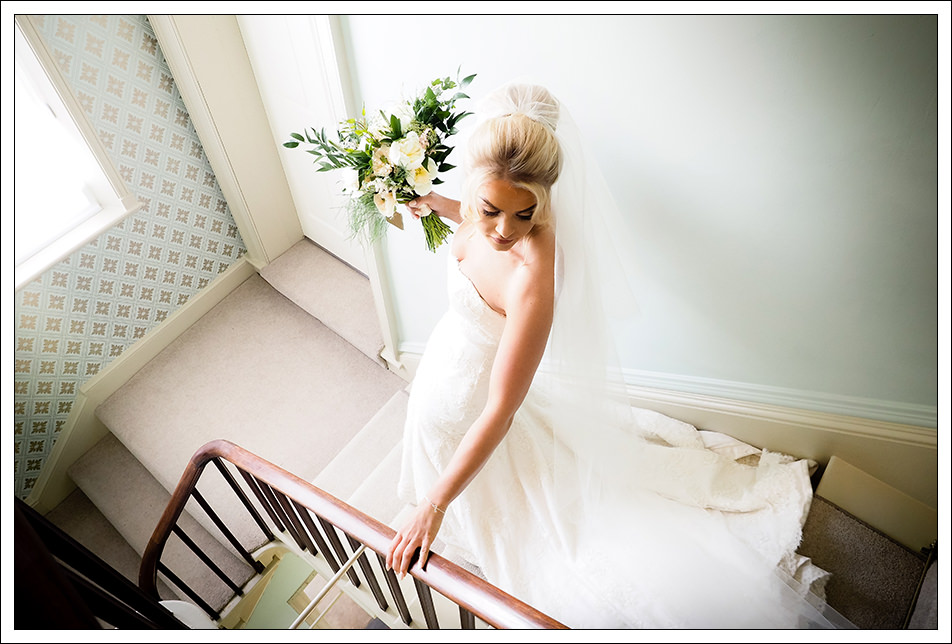 bride leaving hornington manor for the ceremony