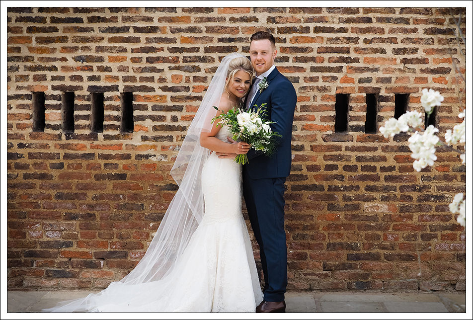 hornington manor wedding, bride and groom portrait