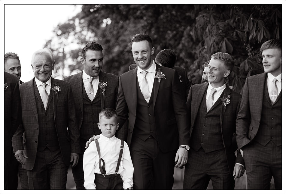 groom with groomsmen at hornington manor