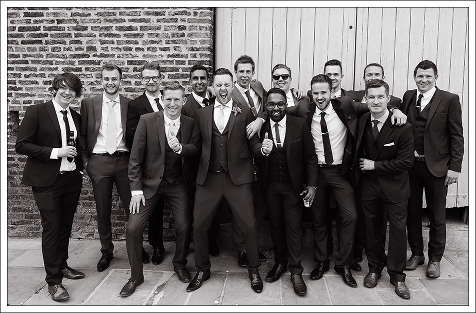 groom and men at hornington manor