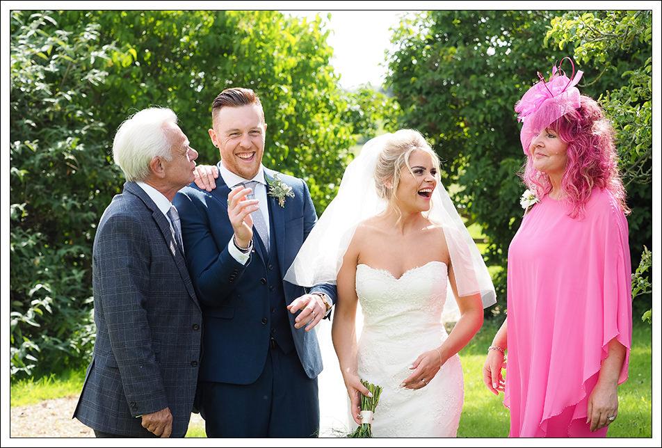 bridal party at hornington manor