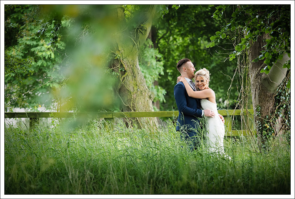 bride and groom portrait at hornington manor, york