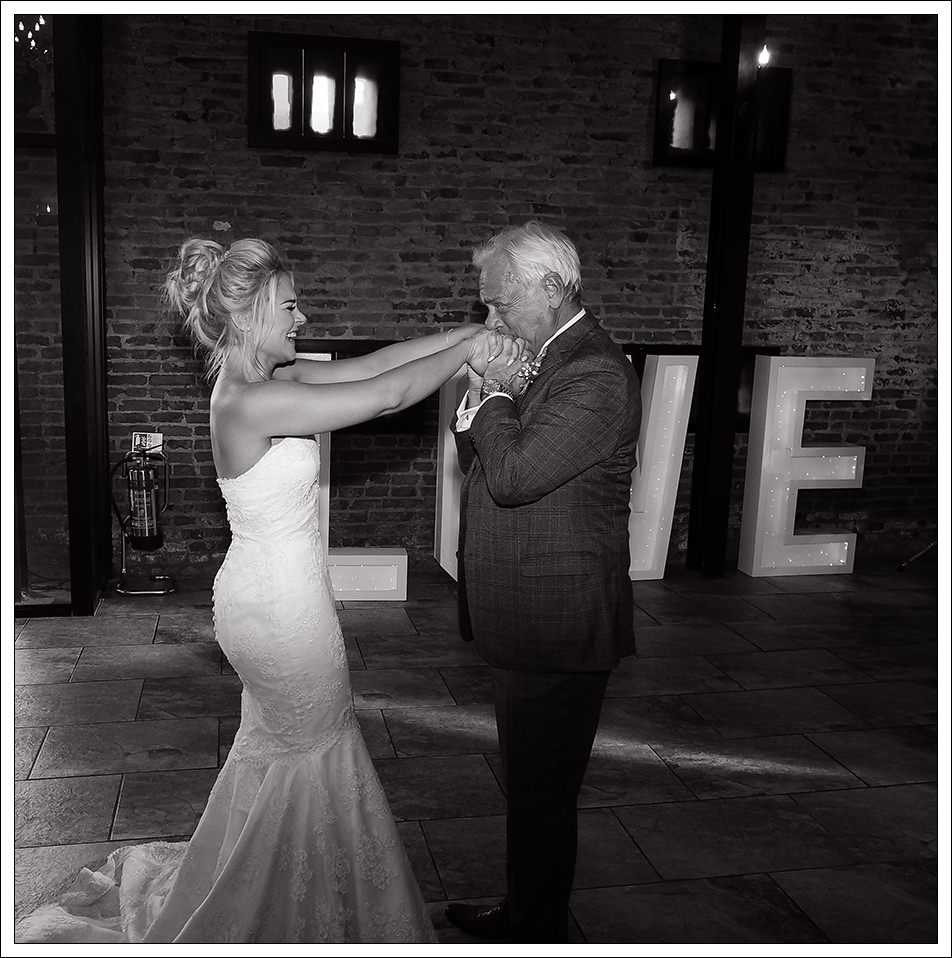 bride and father of the brides first dance at hornington manor, york