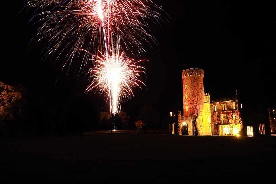 swinton park wedding firework display