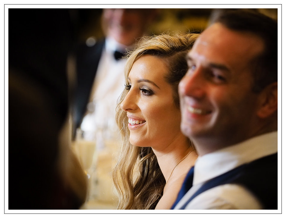 bride during the speeches