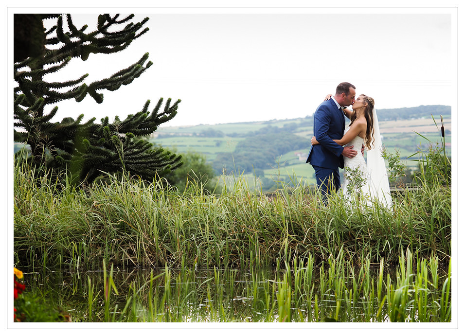 wedding at crossbutts stables - bride and groom portrait at crossbutts stables in whitby