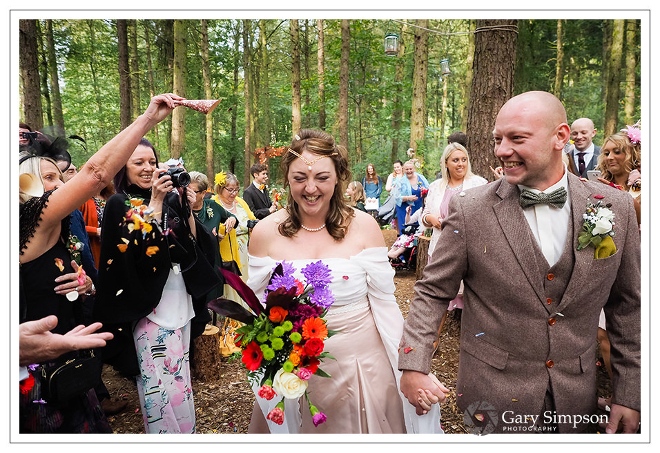confetti at camp katur for the bride and groom