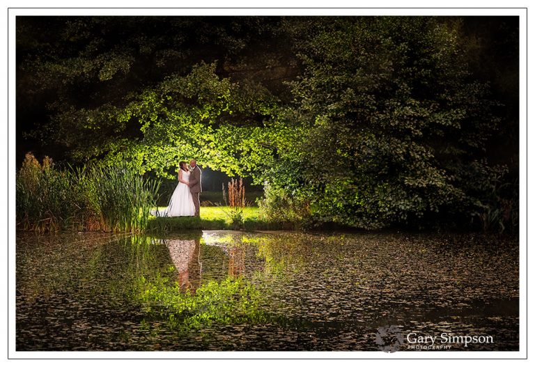 bride and groom portrait at camp katur