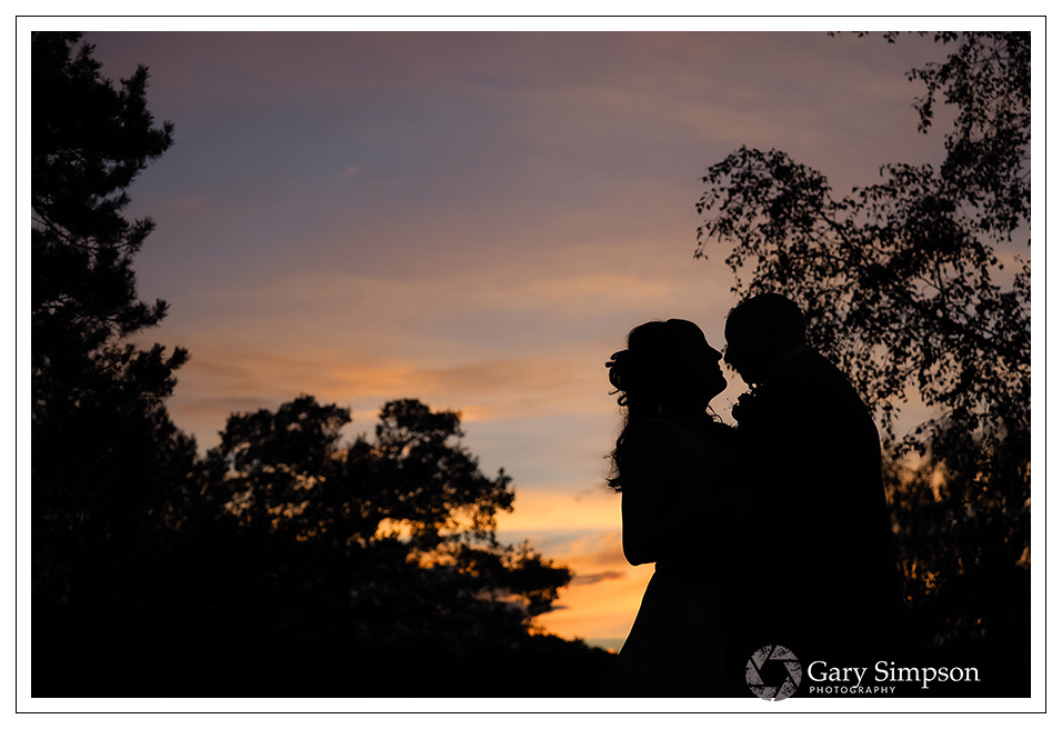 sunset portrait of the bride and groom at camp katur taken in the late evening sunlight