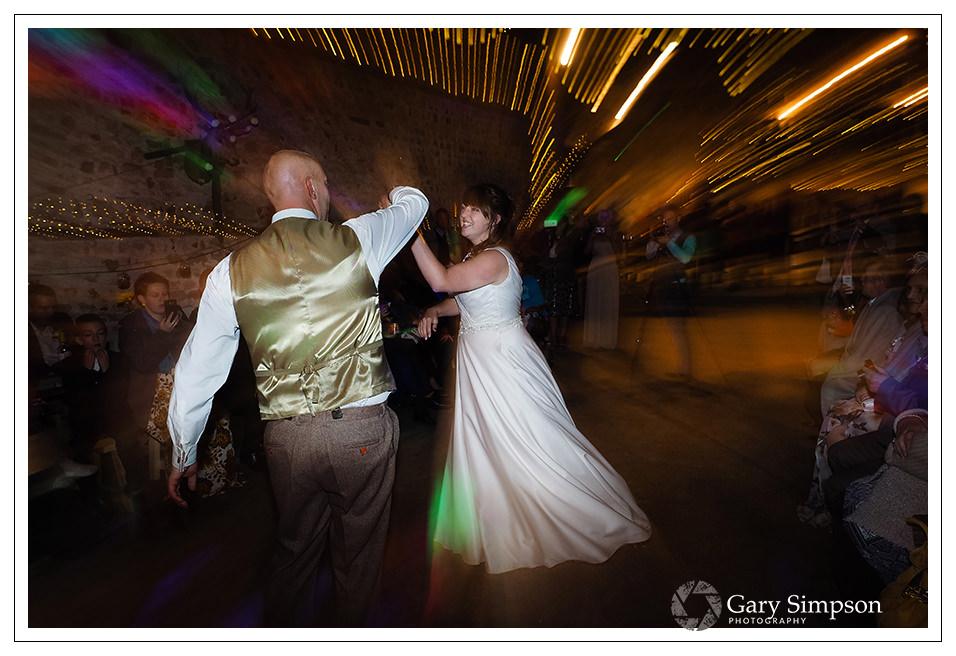bride & grooms first dance at camp katur