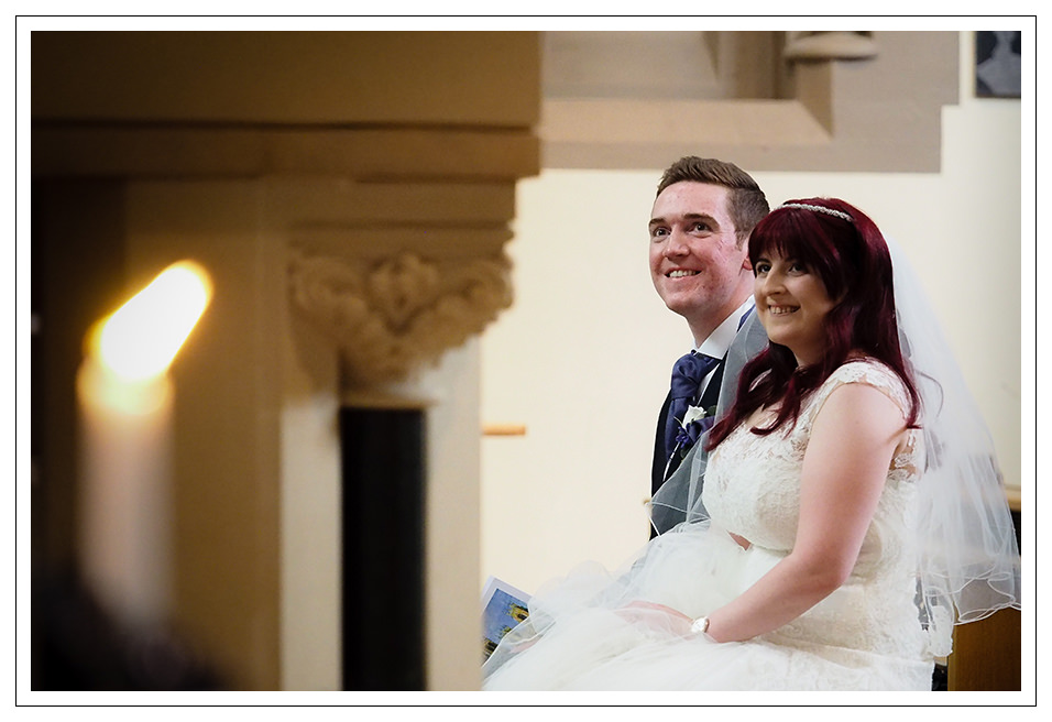 The happy couple at St Wilfred's church in York