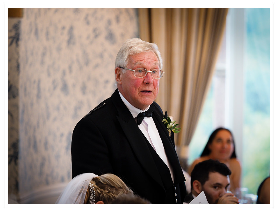 father of the bride and his speech