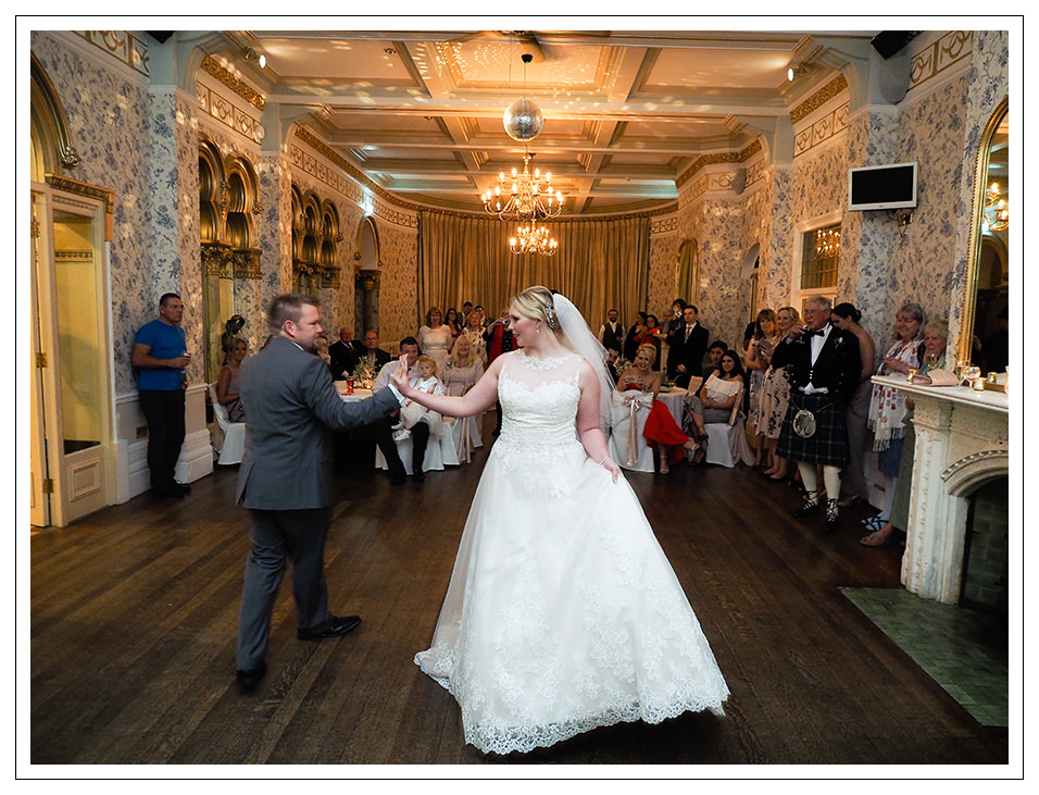 bride and grooms first dance at rushpool hall