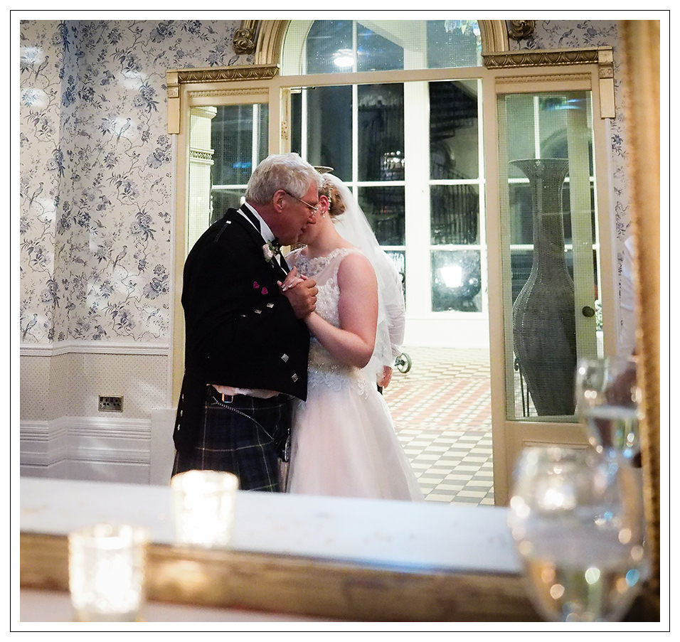 bride and her father share a dance at rushpool hall