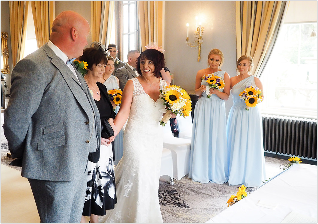 wedding ceremony at oulton hall