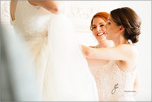 bridal prep at the talbot hotel, malton