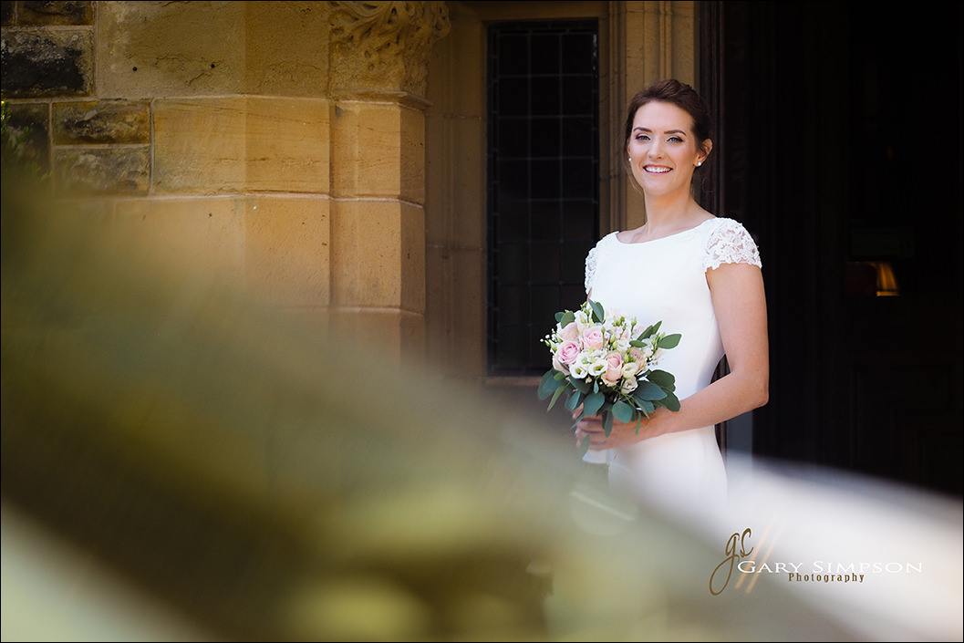 bride portrait at wrea head hotel