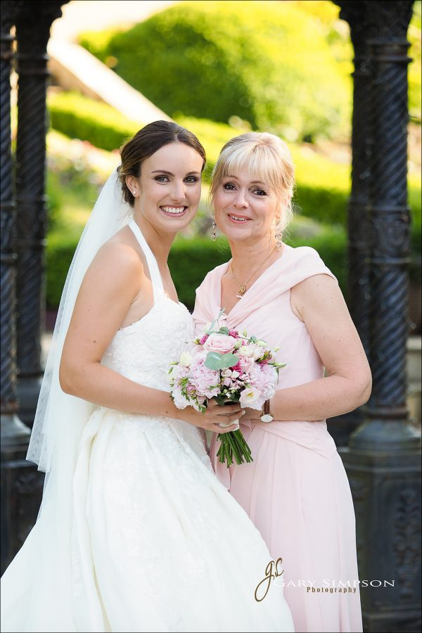 bride and mum portrait at raithwaite