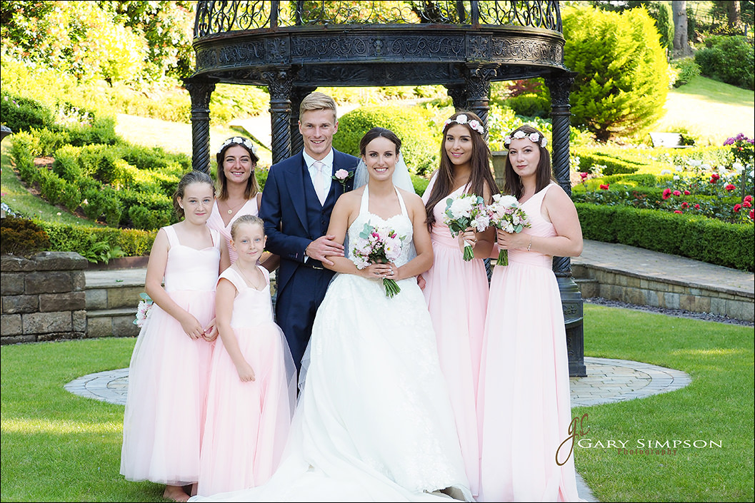 bridal party at raithwaite hall