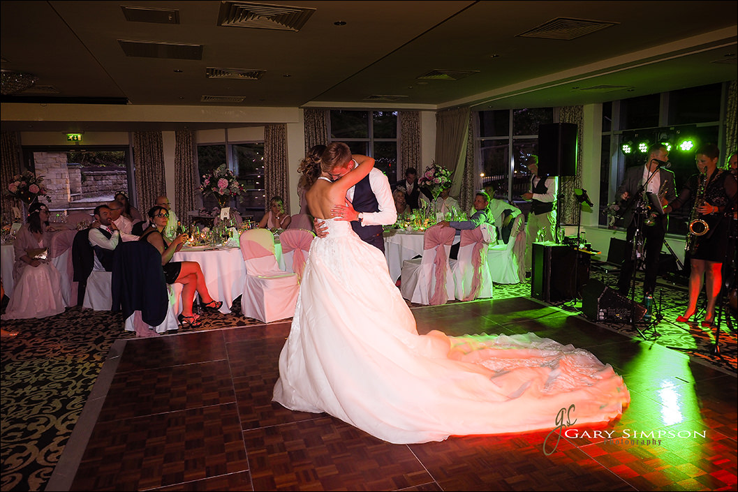 bride and grooms frist dance at raithwaite hall
