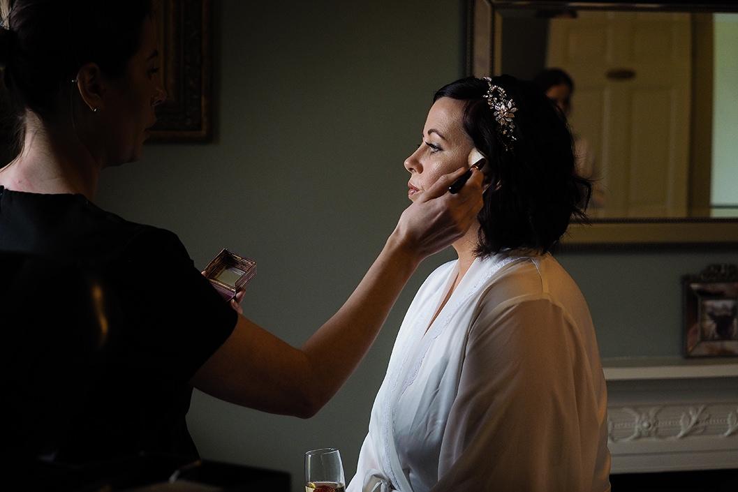 bridal prep at hornington manor york