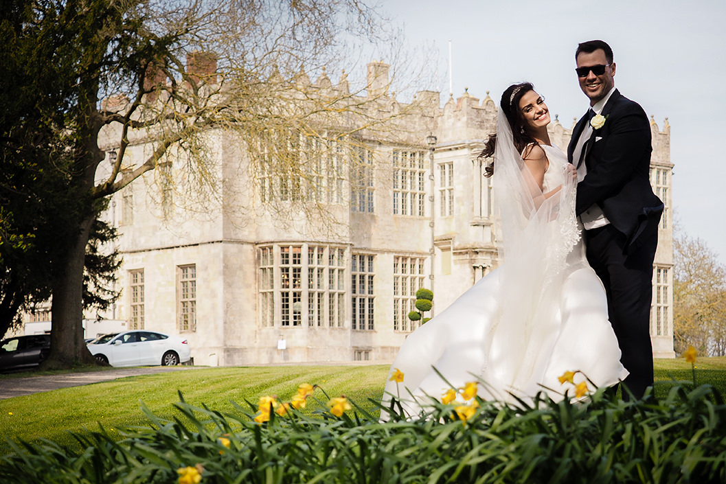 howsham hall wedding - bride and groom portrait