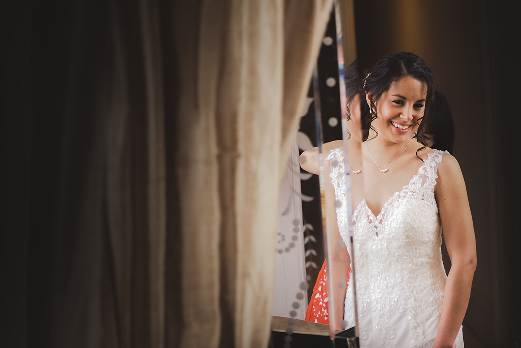 bride getting ready at howsham hall