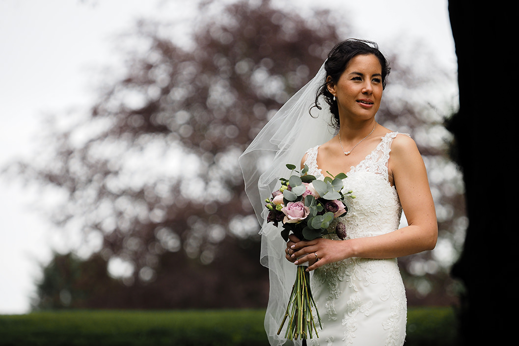 bride portrait at howsham hall in north yorkshire